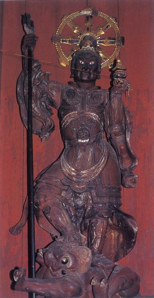 06木造毘沙門天像