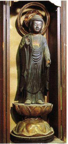 17銅造阿弥陀如来立像