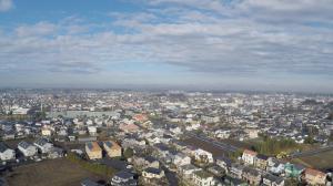空撮 那珂東小学校からイオン方面