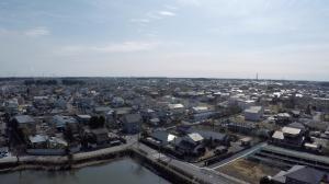 空撮 本庁舎から南東方面