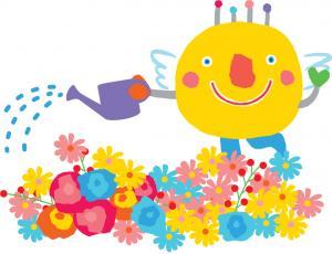 花いっぱいいばラッキー