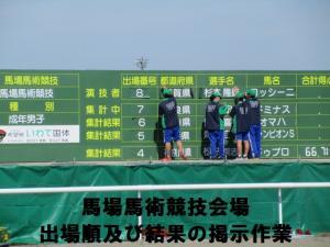 21馬場馬術競技順掲示作業
