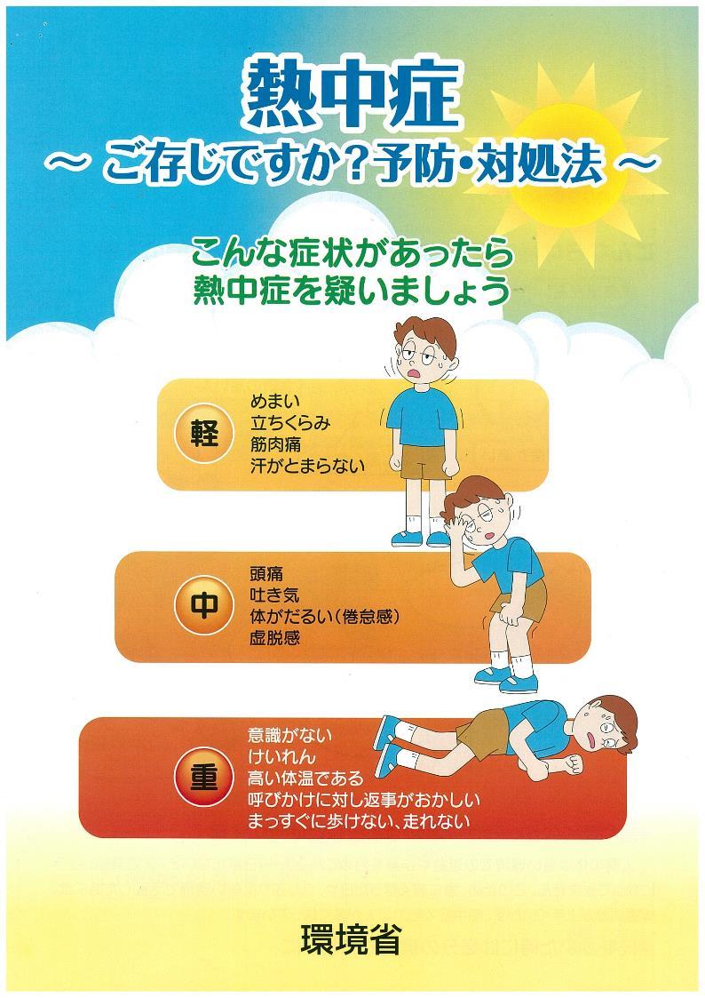 『熱中症~予防・対処法』の画像
