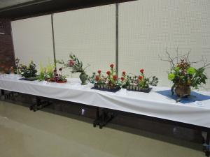 『H29文化祭展示のいけ花の画像』の画像