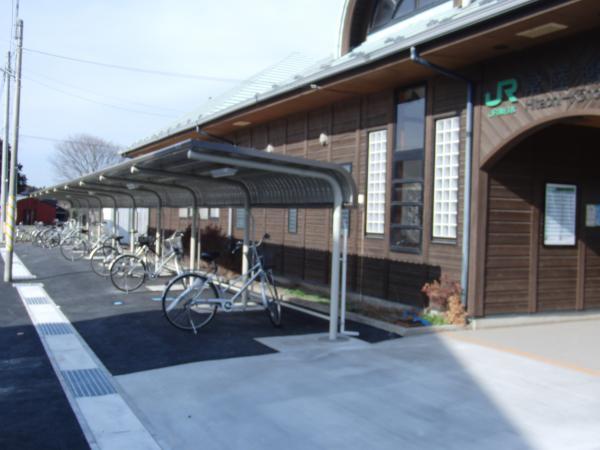 常陸鴻巣駅駐輪場