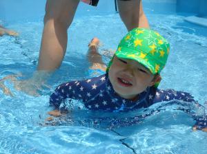 イルカ泳ぎができました