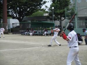 ソフトボール試合風景180731