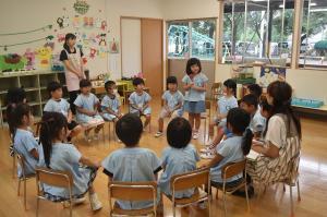 学級での思い出発表会1