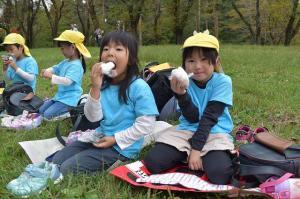 笠松運動公園でお弁当