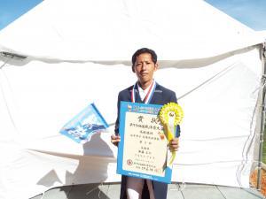 成年男子馬場馬術競技3位齋藤圭介さん