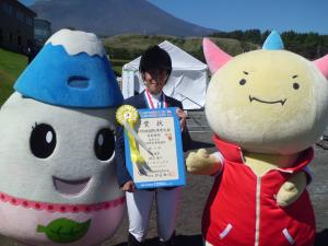 成年女子二段階障害飛越競技3位増山陽子さん