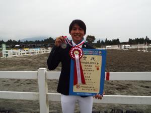 成年男子国体総合馬術競技2位中島悠介さん