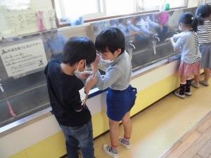 一緒に手を洗う