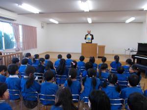横堀幼稚園終業式