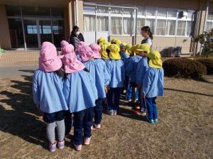 避難訓練小学校まで