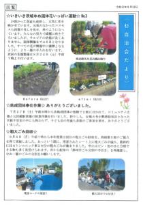 杉自治会だより(令和元年8月13日発行)