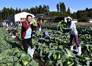 いぃ那珂暮らし応援団 記事 今年の総会はいぃ那珂野菜で東京のお客様と楽しい交流会