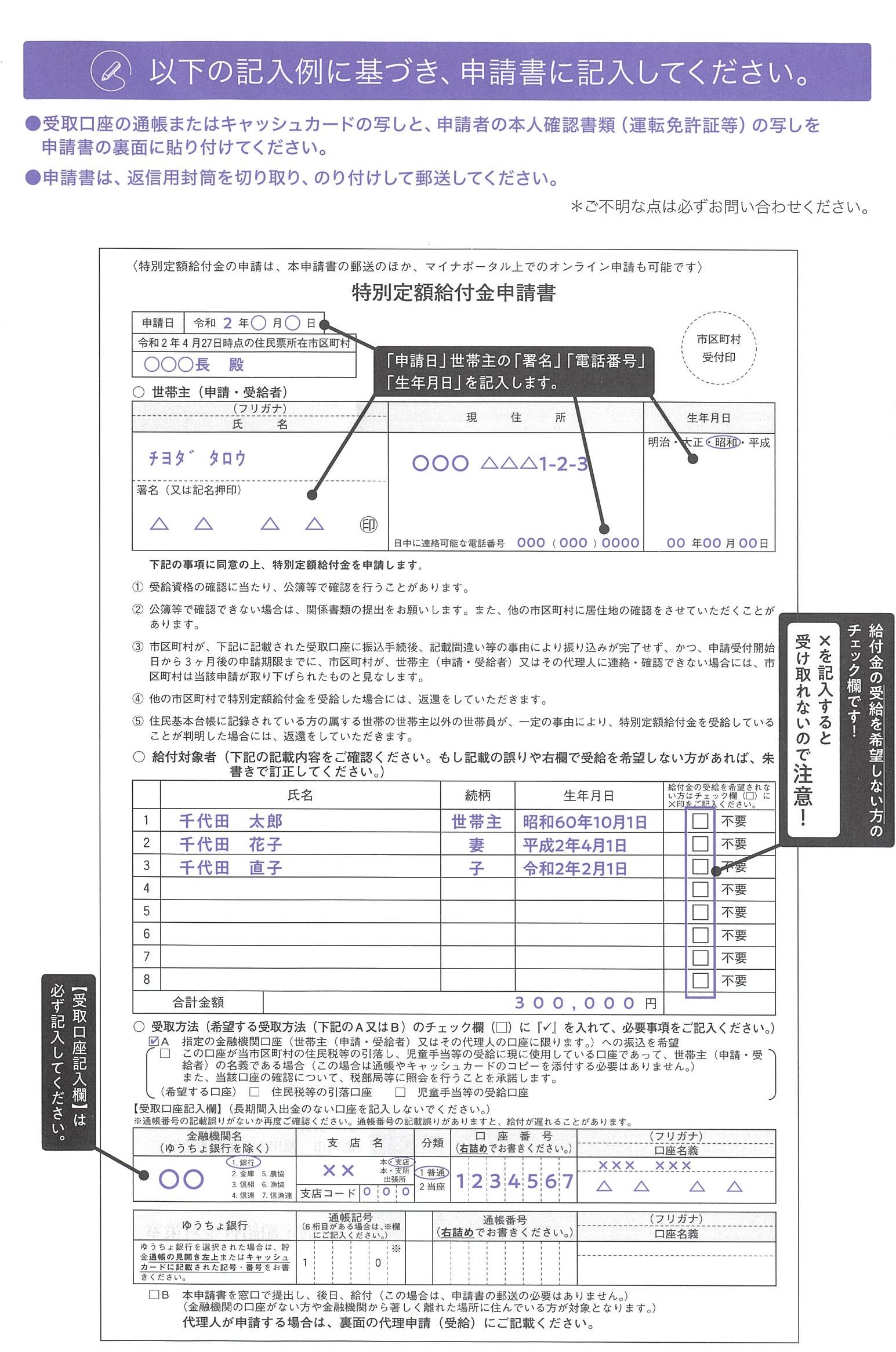 申請書記入例