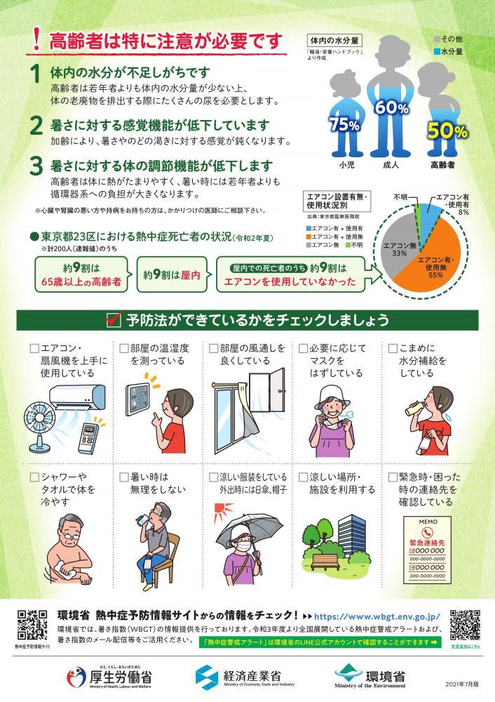 高齢者のための熱中症対策