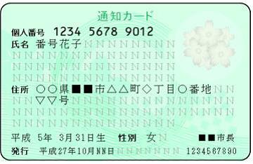 通知カード案
