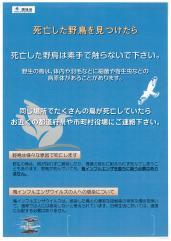 『鳥インフルエンザについて』の写真